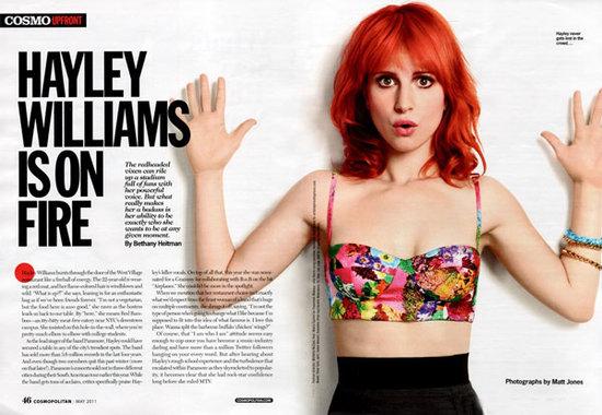 hayley williams 2011 cosmopolitan. hayley williams 2011